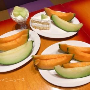 【実食レポ】2500円でメロン食べ放題!「スイーツパラダイス」でメロンパフェやメロンシュークリームも!