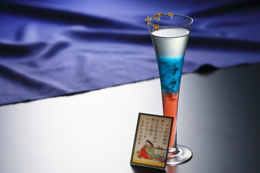 琵琶湖ホテルで「百人一首カクテル」~女性歌人の夜長~秋の夜長にふさわしい紫式部や清少納言のカクテル!