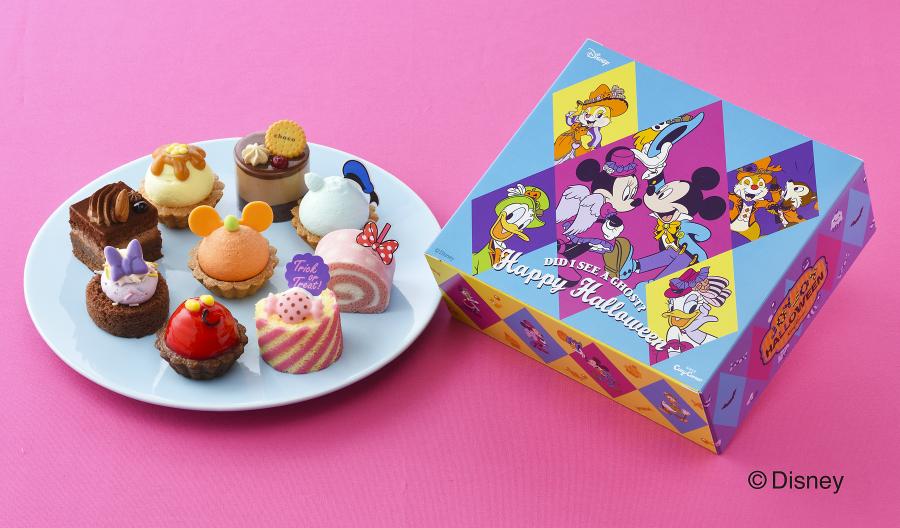 ミッキーとディズニーの仲間たちがハロウィンスイーツに!「コージーコーナー」から仮装した新作プチケーキセット