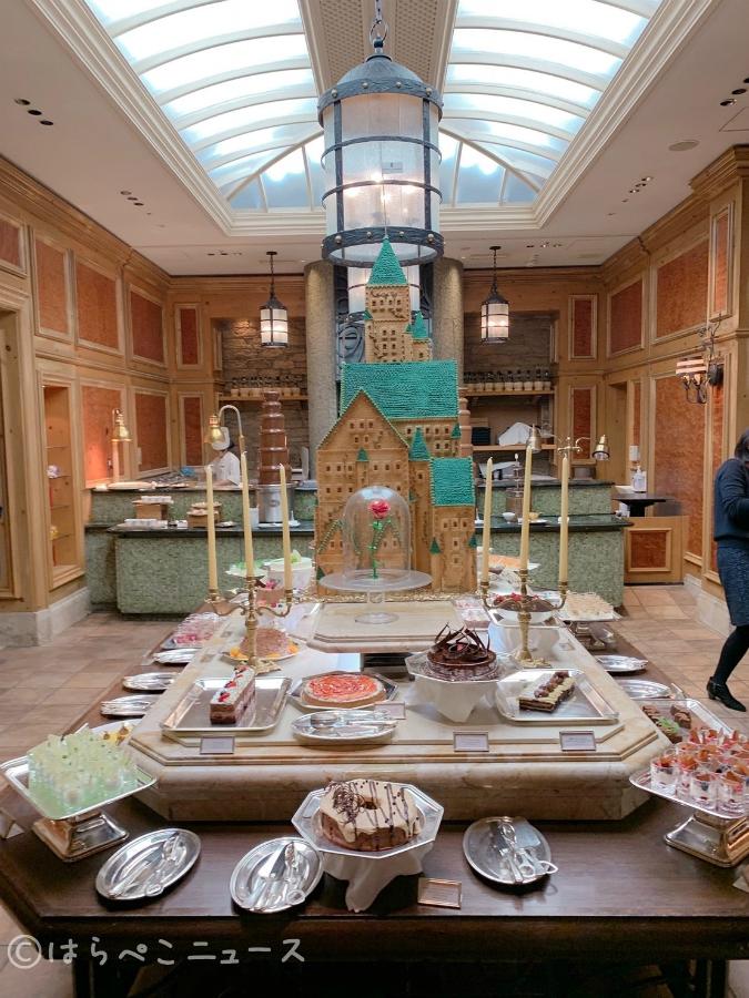 【実食レポ】美女と野獣のチョコレートブッフェ「ザ リッツ カールトン大阪」美しいお城とバラ型タルト!