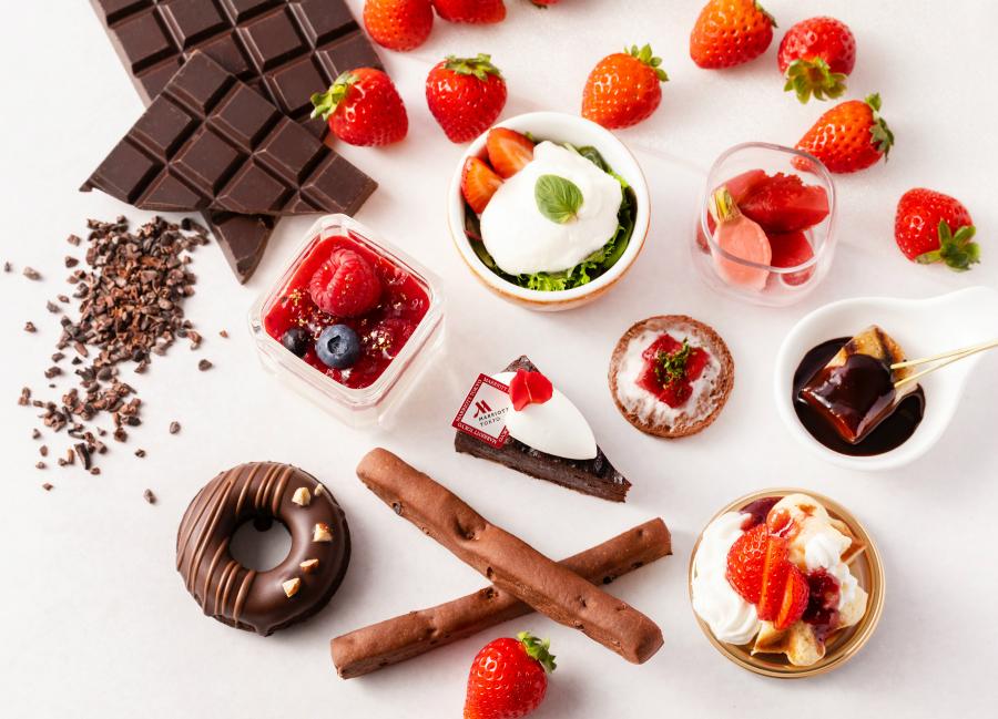 【東京マリオットホテル】ストロベリーショコラアフタヌーンティー2019で甘酸っぱい苺と濃厚なチョコレート!