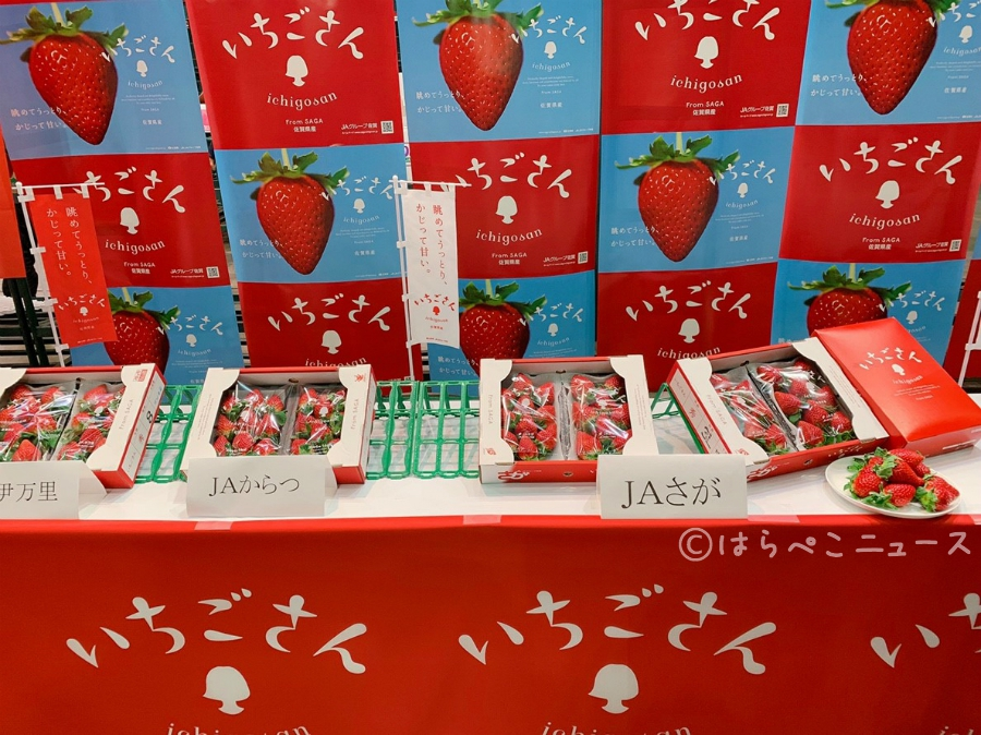 【試食レポ】いちごさん市場デビュー!佐賀県発の新品種いちごは凛と美しく華やかでやさしい甘さ!