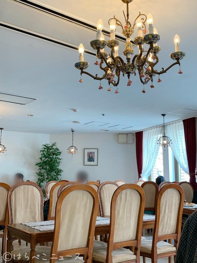 山の上ホテル カフェ コーヒーパーラーヒルトップ 小海老のロングマカロニグラタン