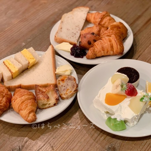 MORETHAN TAPAS LOUNGE モアザン ザノット東京新宿 ランチビュッフェ パン食べ放題