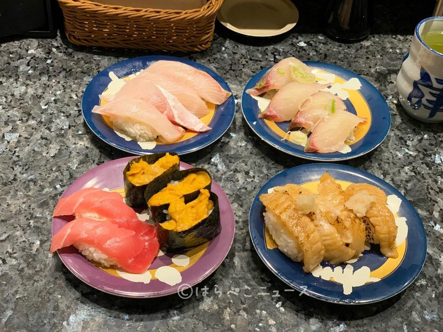 【実食レポ】「回転寿司酒場 銀座沼津港」で食べ放題コース!うに・いくら・中トロに蟹や金目鯛も!