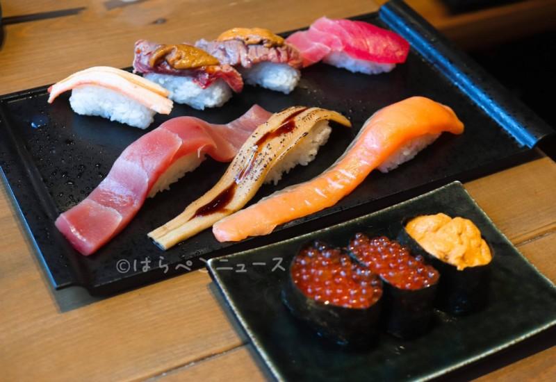 【実食レポ】「すし酒場 フジヤマ」秋葉原で大ネタ寿司食べ放題!肉うに寿司やいくらに蟹も!