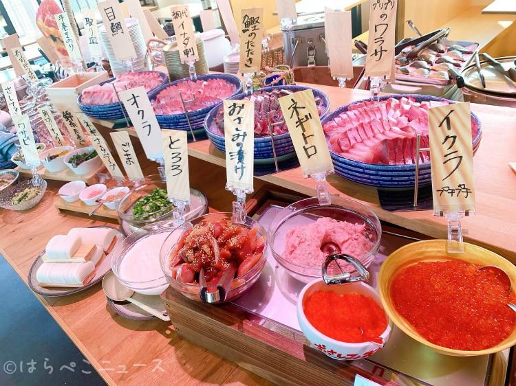 【実食レポ】「おさしみ天国・小田原海鮮ゴーゴー」でお刺身ビュッフェ食べ放題!寿司パフェにいくら丼も!