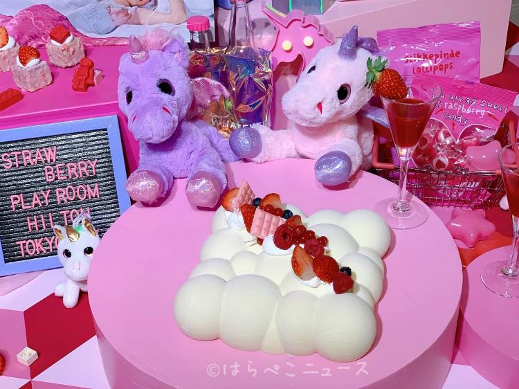 【実食レポ】ヒルトン東京ベイ「ストロベリープレイルーム」いちごブッフェで苺スイーツとピンク色の料理!
