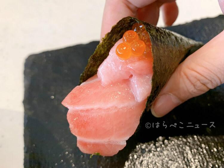 【実食レポ】かっぱ寿司「三段つかみ寿司」本鮪大とろと本ずわい蟹とイクラ&W本鮪大とろとイクラ!