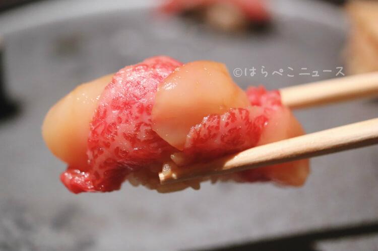 【実食レポ】「牛肉寿司きんたん」銀座のKINTAN新業態で『牛肉寿司30貫コース』飛騨牛たんに霜降り肉も!