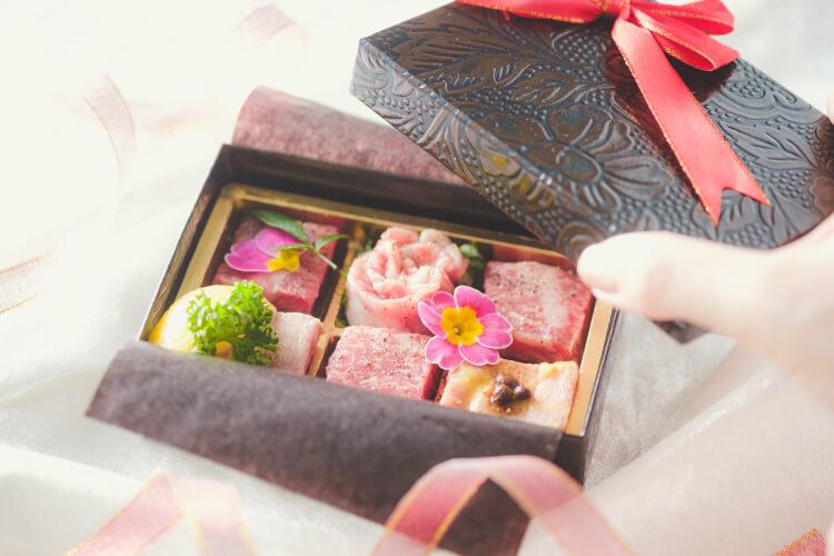 【焼肉 一心たん助】『お肉のプチギフト』をプレゼント!チョコに見立てた肉アソートをホワイトデー限定で!
