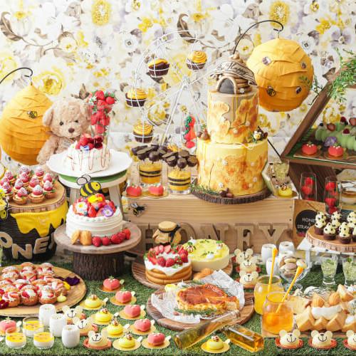 【はちみつスイーツ2020】はちみつビュッフェにハニーアフタヌーンティー!ロールケーキや蜂蜜プリンも!