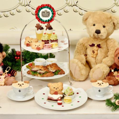 """【Q-pot CAFE.】『メリー""""クマ""""スマス アフタヌーンティーセット』クマちゃんが可愛いクリスマスメニュー!"""