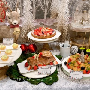 【実食レポ】「ザストリングス表参道」クリスマススイーツブッフェ!眠れる森の美女がテーマで骨付きチキンも!