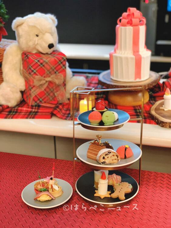 【実食レポ】ANAインターコンチネンタルホテル『クリスマス・アフタヌーンティーセット』シャンパンバーにて