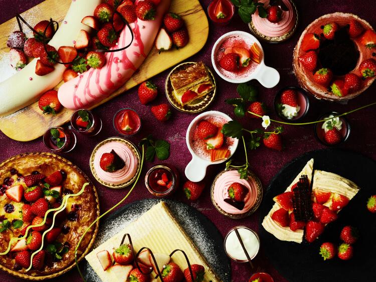 """【ANAクラウンプラザホテル神戸】いちごビュッフェ『ストロベリーデザートブッフェ """"Go To Strawberry""""』"""