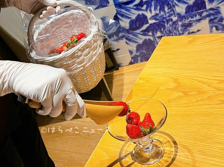 【実食レポ】ヒルトン東京「王朝」いちごスイーツ&点心のランチビュッフェ『アリスのシノワズリなお茶会』