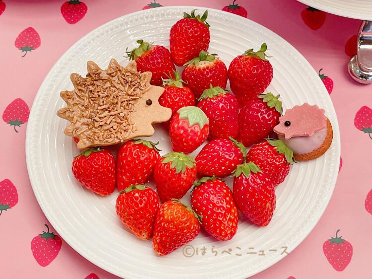 【実食レポ】いちごビュッフェ×ハリネズミ!ANAインターコンチネンタルホテル東京「シャンパンバー」