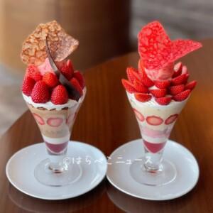 【いちごパフェ2021】人気ホテルのお洒落パフェに夜パフェ!桜×イチゴの春らしいパフェや苺フェアも!