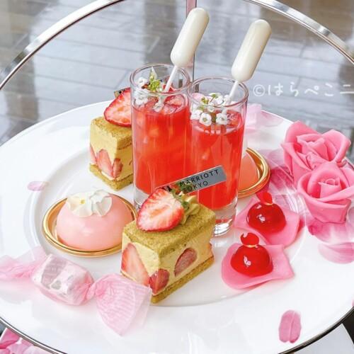【実食レポ】『東京マリオットホテル』苺と花のアフタヌーンティー「ストロベリーブロッサムアフタヌーンティー」