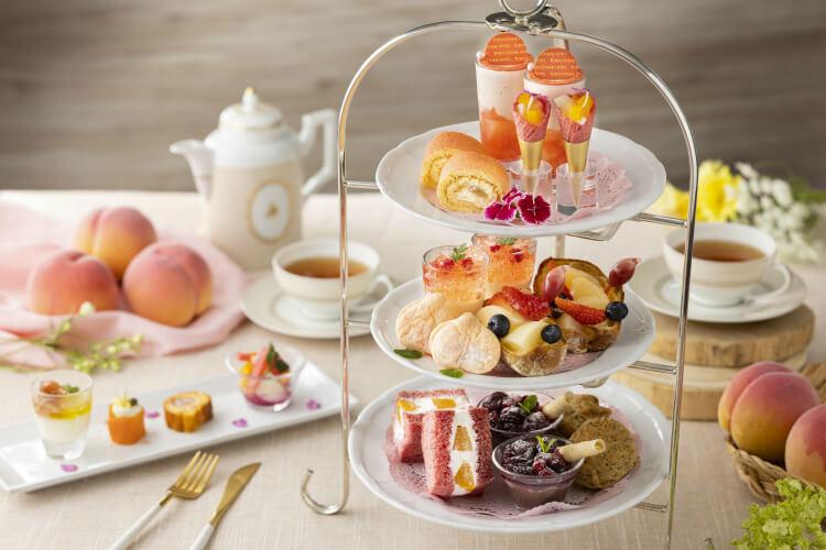 【桃スイーツ2021】ピーチアフタヌーンティー・ピーチビュッフェ・桃パフェ!白桃や黄金桃の通販も