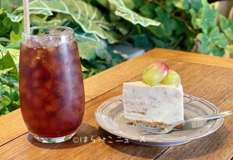 【実食レポ】『カフェ サンズ ノム』で「極旬-裏旬-」バイオレットキング使用「巨峰のレアチーズケーキ」