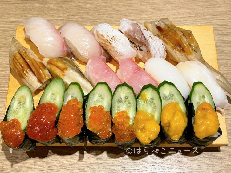 【実食レポ】『築地日本海 キュープラザ池袋店』で「にぎり寿司プレミアム食べ放題」大トロもアワビもウニも!