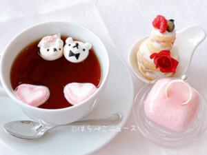 【実食レポ】『南欧料理バンキーナ』浅草でアフタヌーンティー!隅田川を眺めながら「くまメレンゲ」が浮く紅茶