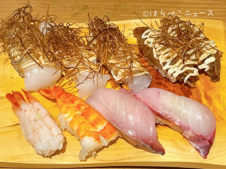 【実食レポ】『国立寿司バル和』にぎり寿司食べ放題!大トロ・うに・いくら・有頭海老・茶碗蒸しも提供!