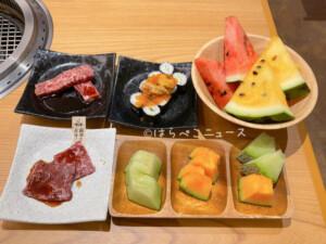 【実食レポ】『かみむら牧場』焼肉食べ放題で薩摩牛にいくらと雲丹巻!旬のフルーツ食べ放題でメロンも
