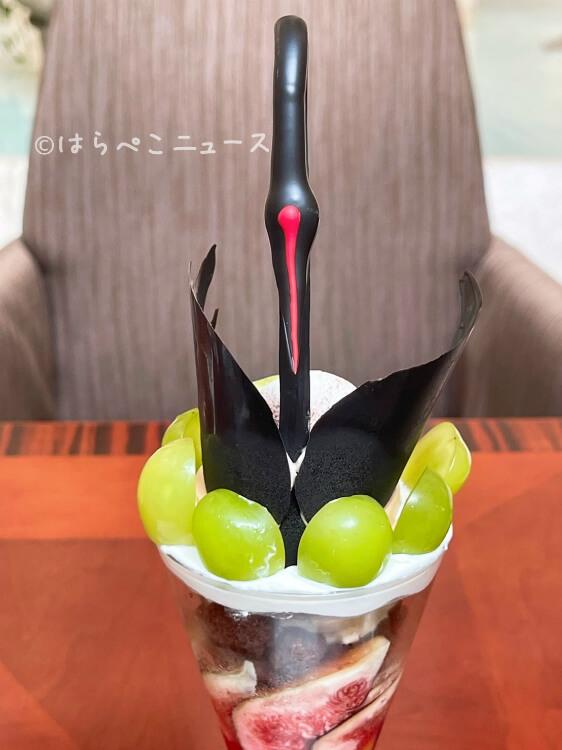 【実食レポ】浦安ブライトンホテル東京ベイ「パフェ・ブラックスワン」を実食!新浦安で美しすぎるパフェ