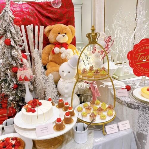 【実食レポ】ザストリングス表参道でクリスマススイーツビュッフェ!テディベア「ハーマンテディ」のスイーツ